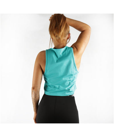 Combat Dollies Cropped Vest Teal