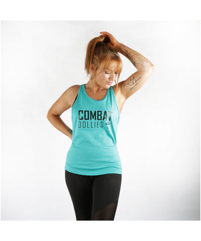 Combat Dollies Tape Back Tank Teal