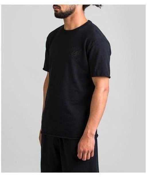 Fresh Ego Kid Knitted T-Shirt Black-Fresh Ego Kid-Gym Wear