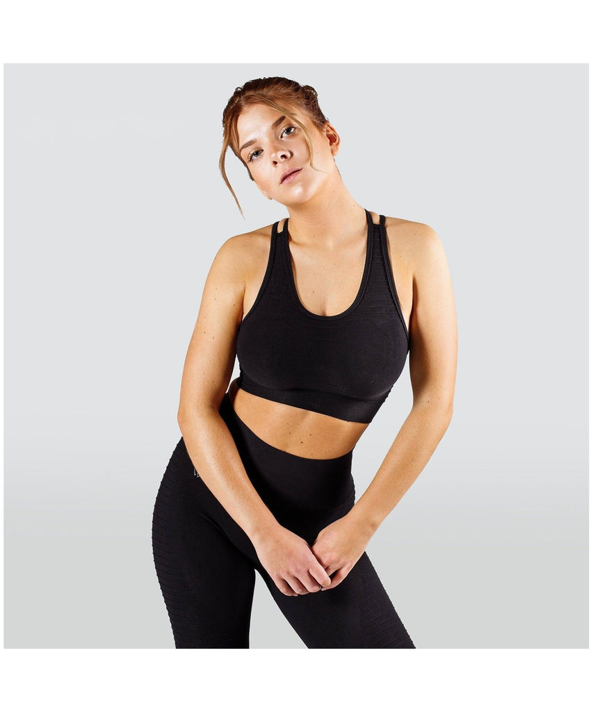 Workout Empire Regalia Flow Sports Bra Black-Workout Empire-Gym Wear