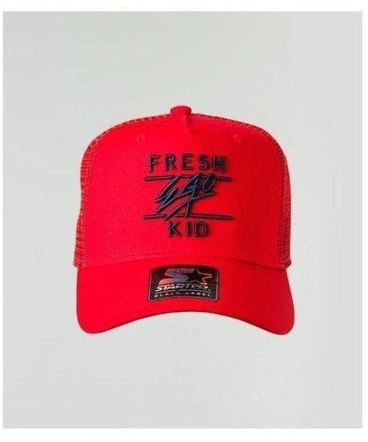 Fresh Ego Kid Mesh Trucker Cap Red/Navy