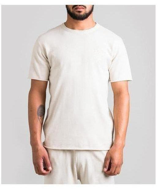 Fresh Ego Kid Knitted T-Shirt Cream-Fresh Ego Kid-Gym Wear