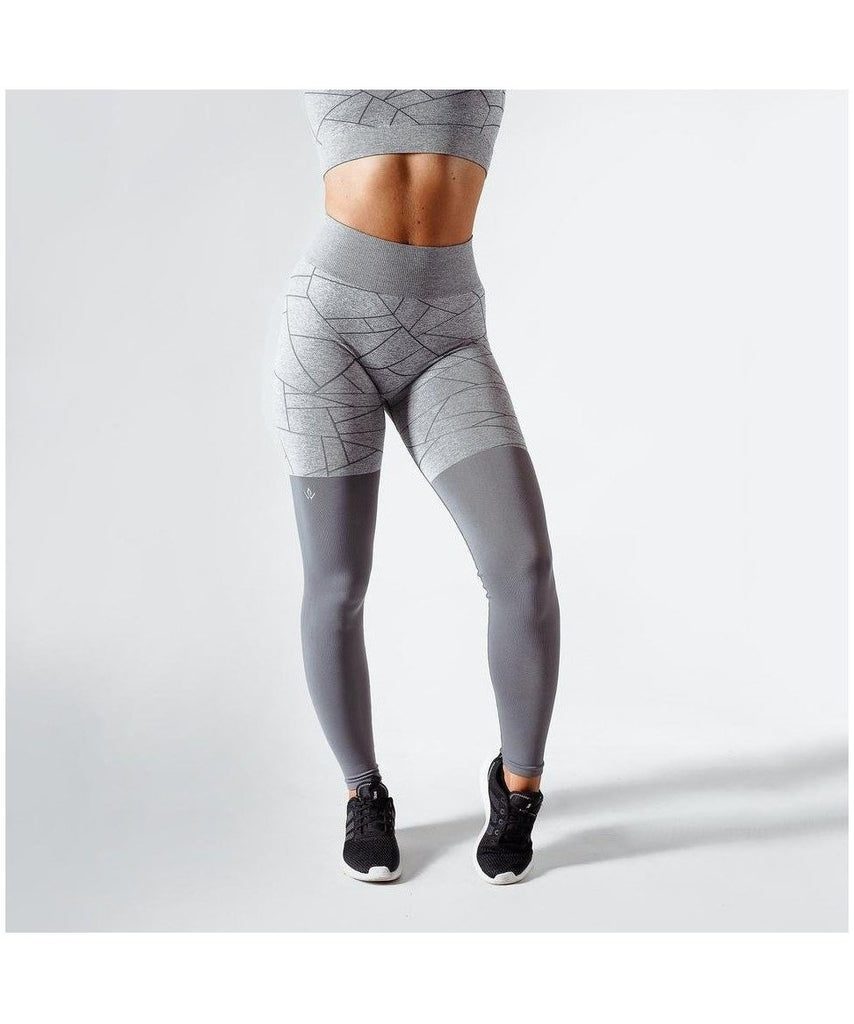 Workout Empire SHMN Seamless Leggings Grey-Workout Empire-Gym Wear