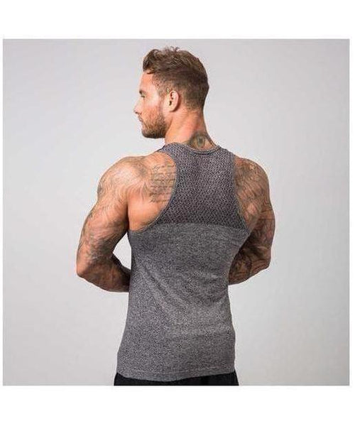 Muscle Nation Ghost Seamless Vest Grey-Muscle Nation-Gym Wear