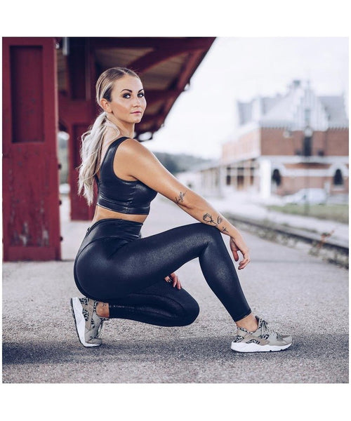 Workout Empire Shimmer Leggings Black-Workout Empire-Gym Wear