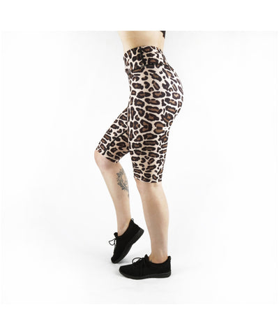 Combat Dollies Leopard Print Cycle Shorts