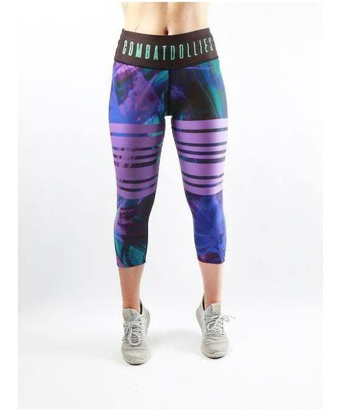 Combat Dollies Suzie Capri Fitness Leggings-Combat Dollies-Gym Wear