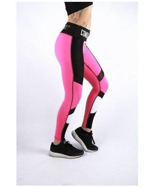 Image of Combat Dollies Hot Pink Mix Fitness Leggings