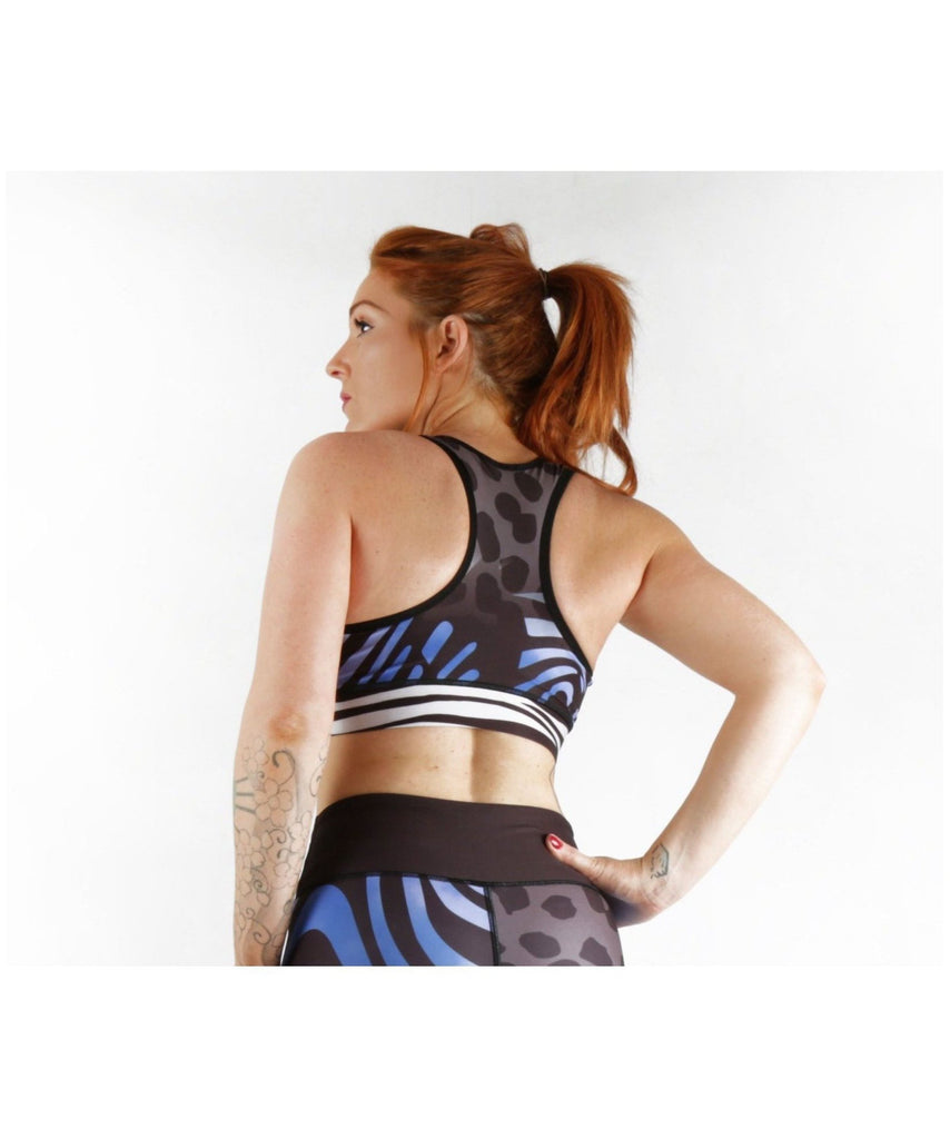 Combat Dollies Wild Blue Sports Bra