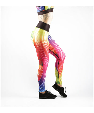 Combat Dollies Full Rainbow Fitness Leggings-Combat Dollies-Gym Wear
