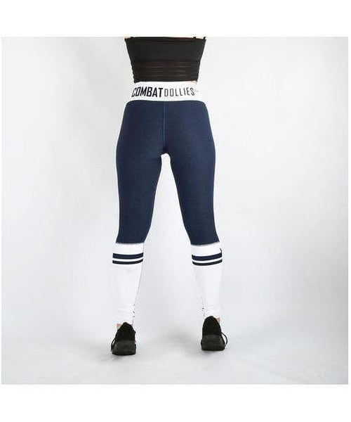 Combat Dollies Navy Crossfit Fitness Leggings-Combat Dollies-Gym Wear