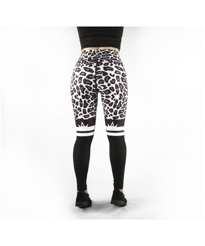 Combat Dollies White Leopard Fitness Leggings