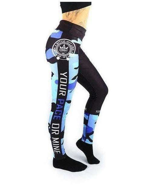 Combat Dollies Fitness Leggings Blue Camo-Combat Dollies-Gym Wear