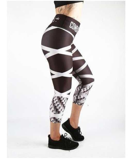 Combat Dollies Carbon Steel Capri Fitness Leggings-Combat Dollies-Gym Wear