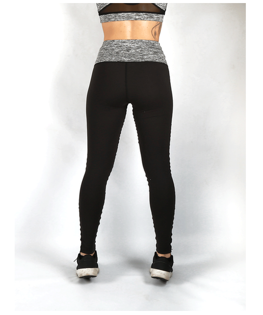 Combat Dollies High Waisted Fitness Leggings Grey-Combat Dollies-Gym Wear