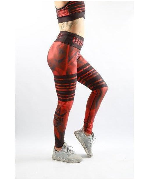 Combat Dollies Red Tribe Fitness Leggings-Combat Dollies-Gym Wear