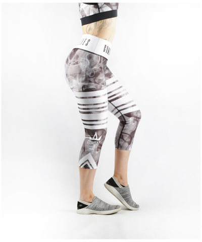 Combat Dollies Smoking Capri Fitness Leggings-Combat Dollies-Gym Wear