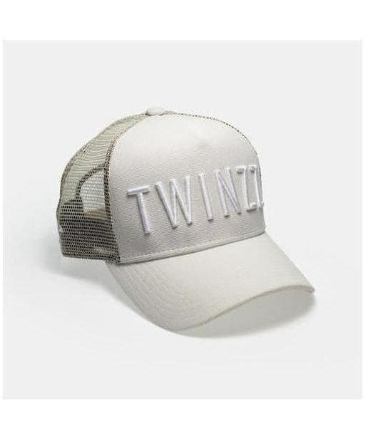 Image of Twinzz 3D Mesh Trucker Cap Stone/White