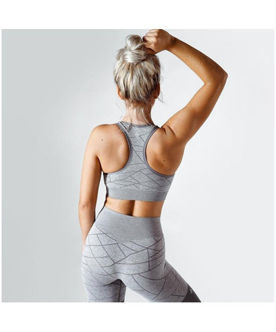 Workout Empire SHMN Sports Bra Grey-Workout Empire-Gym Wear