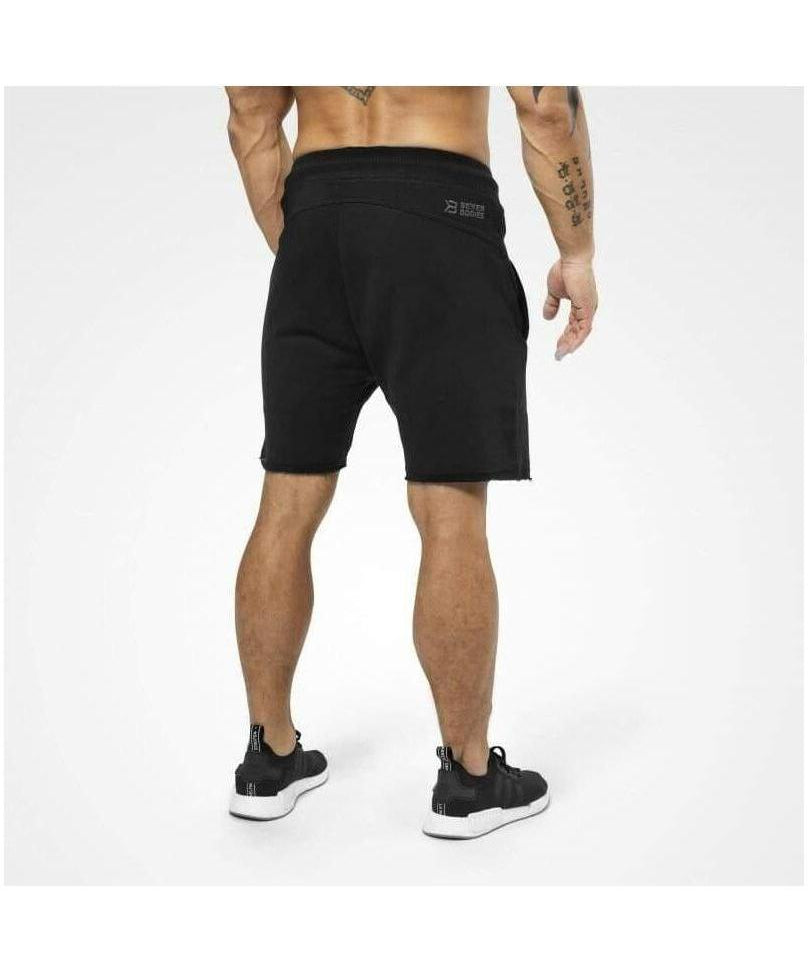 Better Bodies Hudson Sweat Shorts Black-Better Bodies-Gym Wear
