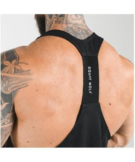 Squat Wolf Next Gen Stringer Black-Squat Wolf-Gym Wear