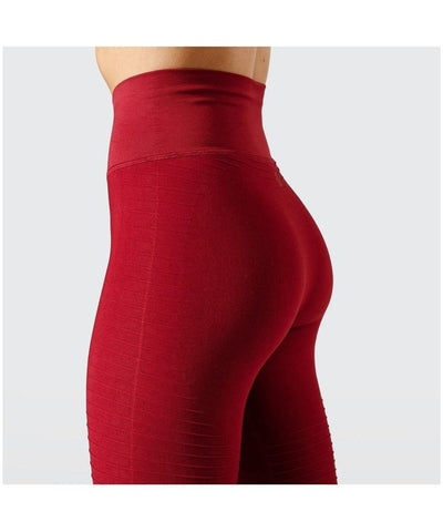 Workout Empire Regalia Flow High Waisted Leggings Red-Workout Empire-Gym Wear