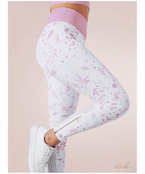 Workout Empire Strong is Female Floral Leggings-Workout Empire-Gym Wear