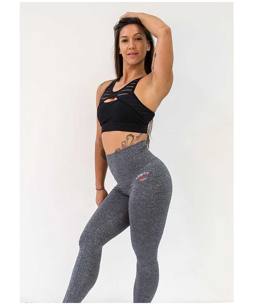 Stop It I Like It Salt n Pepa High Waisted Scrunch Leggings Grey-Stop It I Like It-Gym Wear