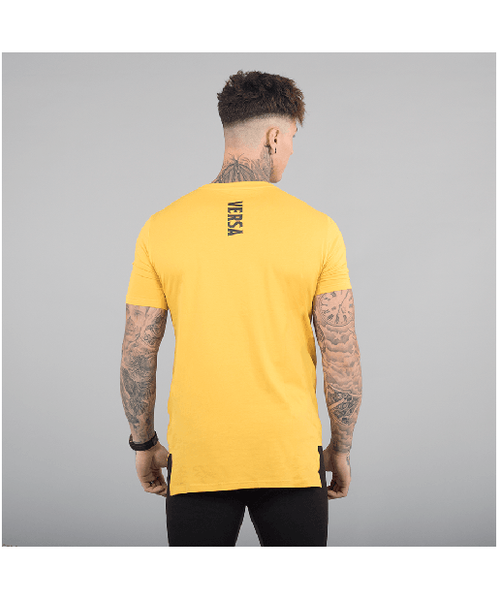Versa Forma Motif T-Shirt Yellow-Versa Forma-Gym Wear