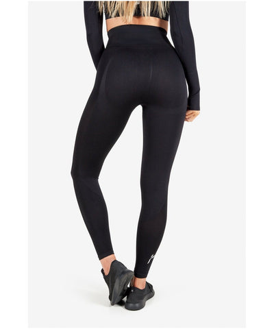 Famme Elevate Wave High Waisted Leggings Black-Famme-Gym Wear