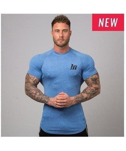 Muscle Nation ClimaFlex T-Shirt Blue-Muscle Nation-Gym Wear