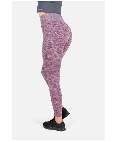 Famme Space High Waisted Leggings Burgundy-Famme-Gym Wear