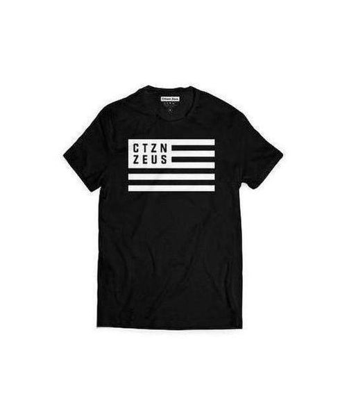 Citizen Zeus CTZN Flag T-Shirt Black-Citizen Zeus-Gym Wear