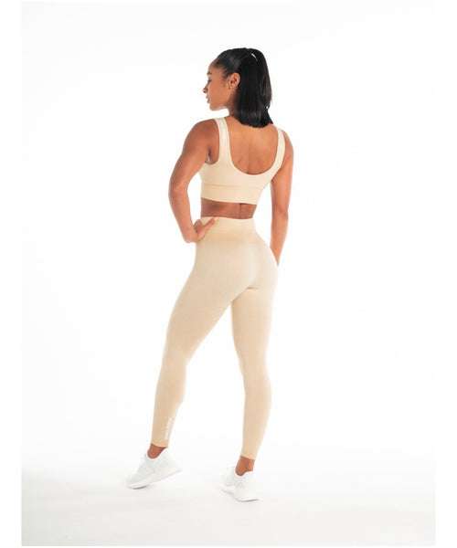 Pursue Fitness ADAPT Seamless Sports Bra Beige