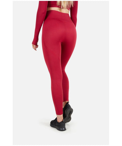Famme Vortex High Waisted Leggings Red