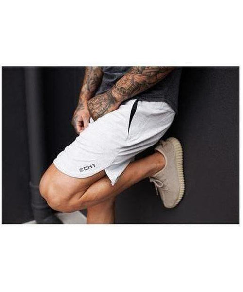 Echt Impetus Knit Shorts Cloud White-Echt-Gym Wear