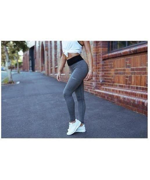 Womens Echt Impetus Accent Leggings Grey/Black-Echt-Gym Wear