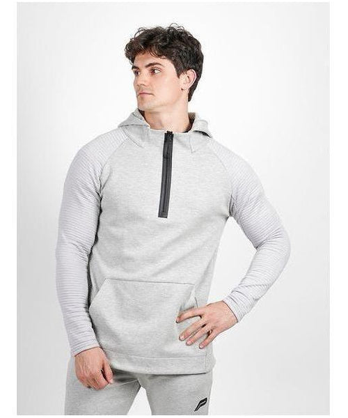 Pursue Fitness Elevate Tech Half Zip Hoodie Marl Grey-Pursue Fitness-Gym Wear