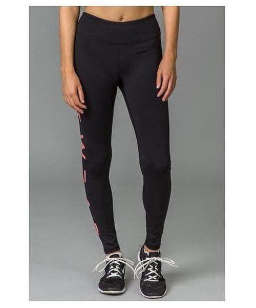 Fitwear Text Leggings Pink-Fitwear-Gym Wear