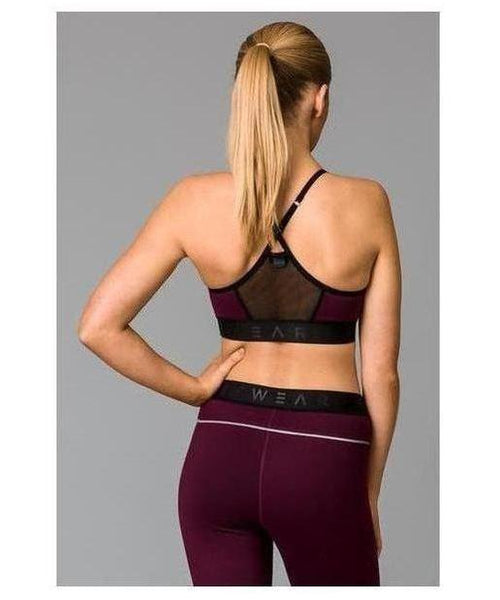 Fitwear Vivid Sports Bra Purple-Fitwear-Gym Wear