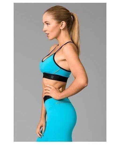 Fitwear Vivid Sports Bra Turquoise-Fitwear-Gym Wear