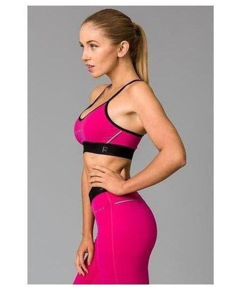 Fitwear Vivid Sports Bra Pink-Fitwear-Gym Wear