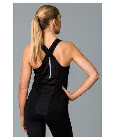 Fitwear Sweat Less Sport Vest Black-Fitwear-Gym Wear