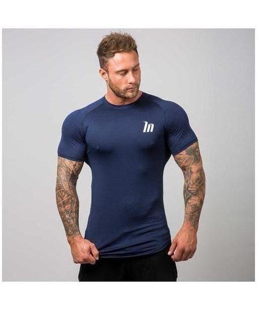 Muscle Nation ClimaFlex T-Shirt Navy-Muscle Nation-Gym Wear