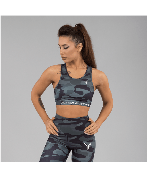 Versa Forma Camo Crop Bra Dark Edition-Versa Forma-Gym Wear