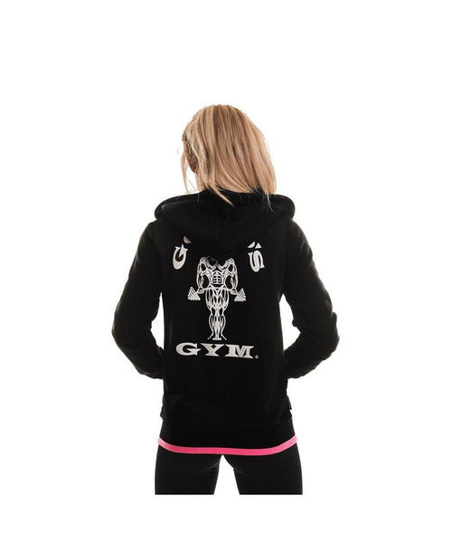 Gold's Gym Muscle Joe Fitted Hoodie Black