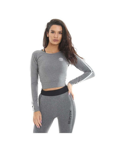 Gold's Gym Cropped Sweater Grey