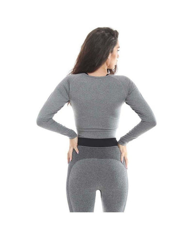 Gold's Gym Cropped Sweater Grey-Golds Gym-Gym Wear