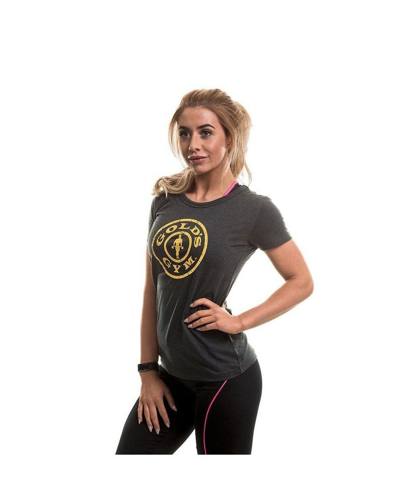 Gold's Gym Muscle Joe Fitted T-Shirt Grey-Golds Gym-Gym Wear