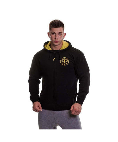Gold's Gym Muscle Joe Zip Up Hoodie Black-Golds Gym-Gym Wear
